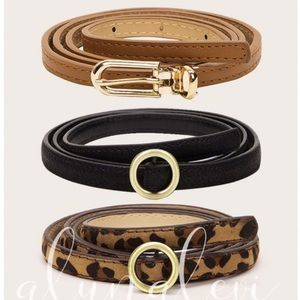 🔥🔥Black Skinny Belt